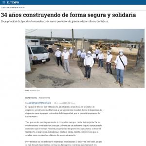 34 años construyendo de forma segura y solidaria