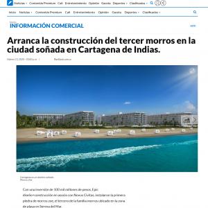 Arranca la construcción del tercer morros en la ciudad soñada en Cartagena de Indias
