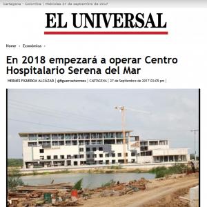 En 2018 empezará a operar Centro Hospitalario Serena del Mar