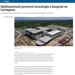 Multinacional proveerá tecnología a hospital en Cartagena