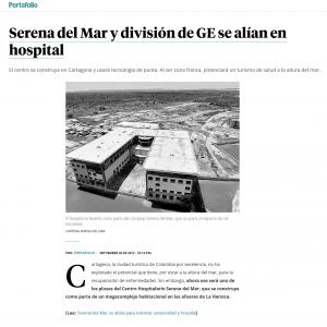 Serena del Mar y división de GE se alían en hospital